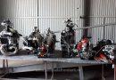 Șase motociclete dezmembrate și un scuter, furate din ITALIA, găsite la Petea