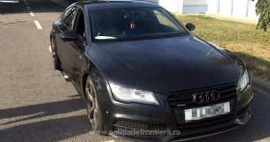 Audi căutat de autoritățile din Marea Britanie, confiscat unui englez la Stamora-Moravița