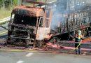 FRANȚA: Un camion condus de un șofer român a ars complet după ce a fost lovit de o autoutilitară