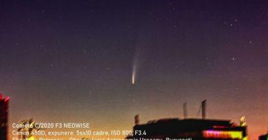 Cometa Neowise poate fi văzută și seara lângă constelația Ursa Mare