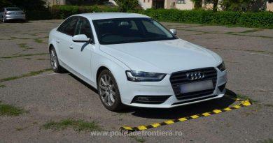 Audi A4 căutat pentru confiscare de autoritățile britanice, descoperit în județul Iași