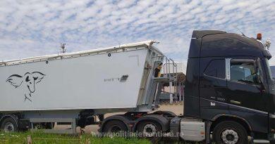 Cap-tractor căutat pentru confiscare de autoritățile britanice, depistat la frontiera română